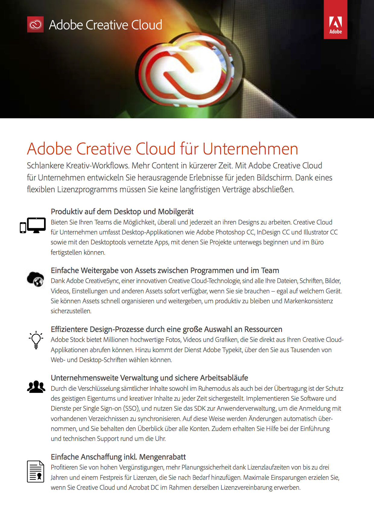 Adobe PhotoShop Creative Cloud Business Win/Mac Abo/Mietmodell